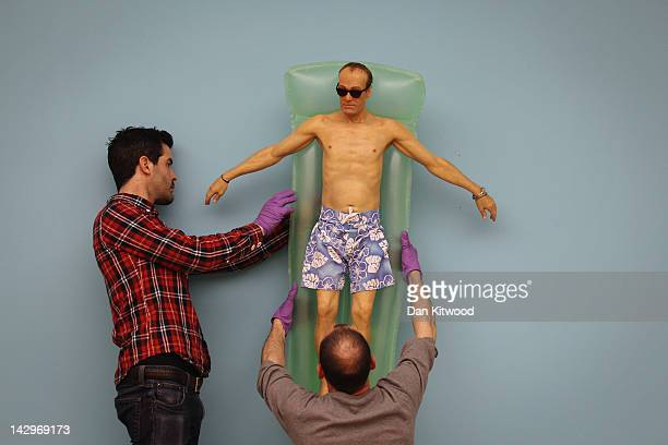 'Drift' by artist Ron Mueck is hung by gallery technicians at the Hauser Wirth gallery on April 16 2012 in London England The series of four...