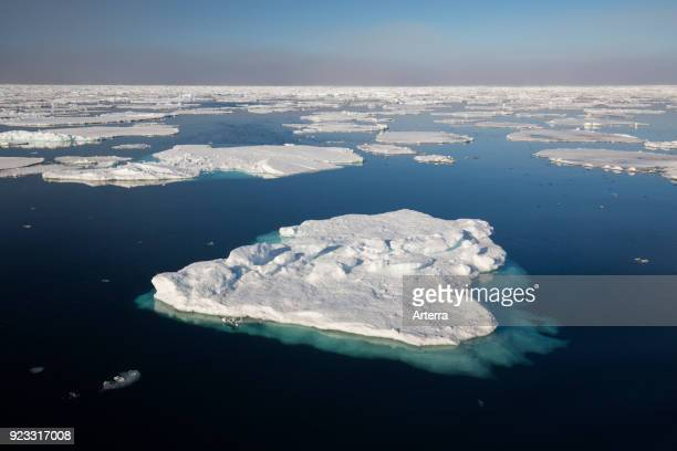 Drift ice ice floes in the Arctic Ocean Nordaustlandet North East Land Svalbard Spitsbergen Norway