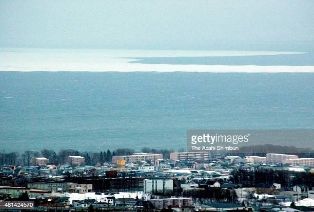 Drift ice is seen at Sea of Okhotsk on Janaury 12 2015 in Abashiri Hokkaido Japan The arrival of the drift ice is 9 days earlier than last year