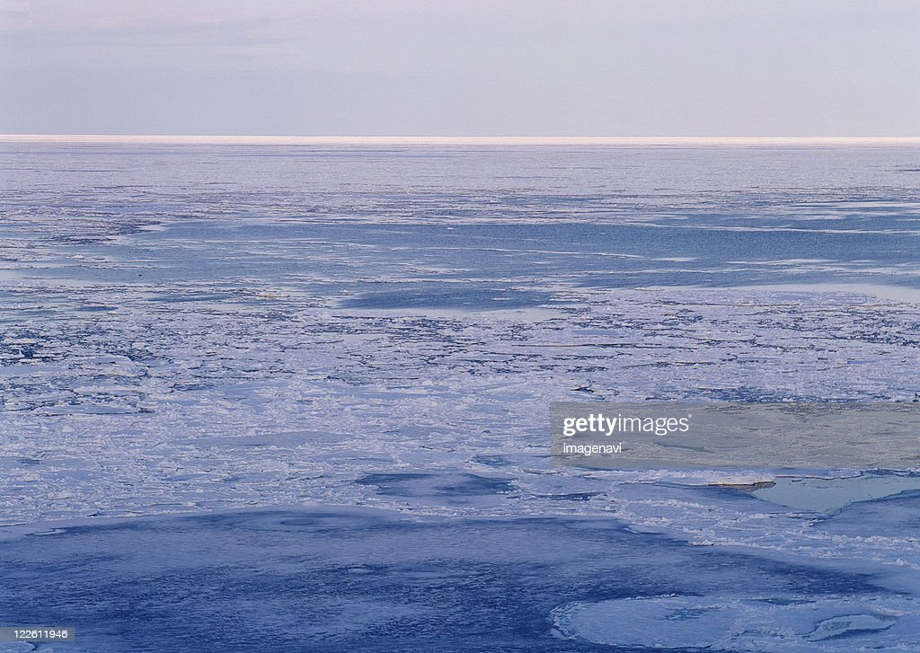 Drift Ice of Lake Notori : Stock Photo