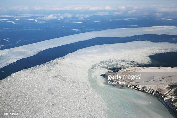 Drift ice was spotted in the Sea of Okhotsk off Abashiri on Japan's northernmost main island of Hokkaido on Jan 31 2017 The local meteorological...