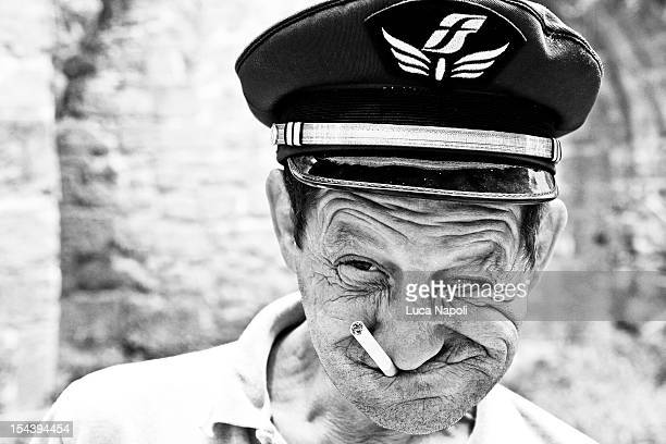 Drifting aroung Taranto vecchia I got stopped by him and he asked for a portraitHe took the hat and the cigarette andthis is the result I gave him a...