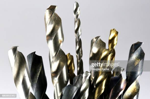 drill bits for hole cutting - drill bit stock photos and pictures