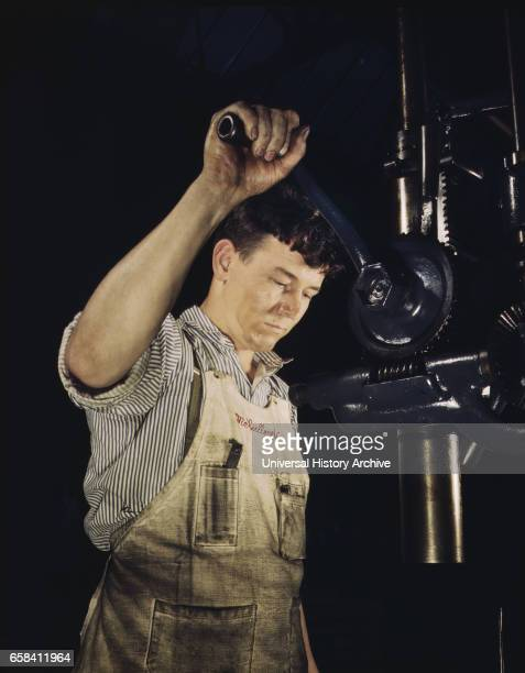 Drill Press Operator Allegheny Ludlum Steel Corp Brackenridge Pennsylvania USA Alfred T Palmer for Office of War Information 1941
