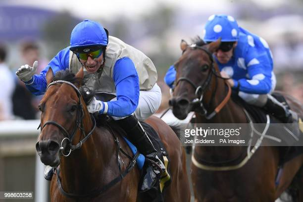 Drill ridden by Gerald Mosse wins the Saeed Suhail Saeed Handicap during day three of The Moet Chandon July Festival at Newmarket Racecourse