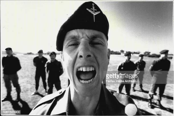 Drill Sergeant Warrant officer Tony Drummond of the Commando Company August 4 1987