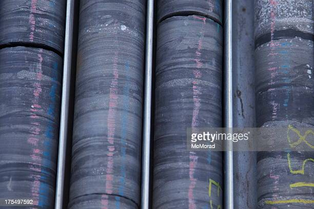 drilled core samples - geology stock photos and pictures