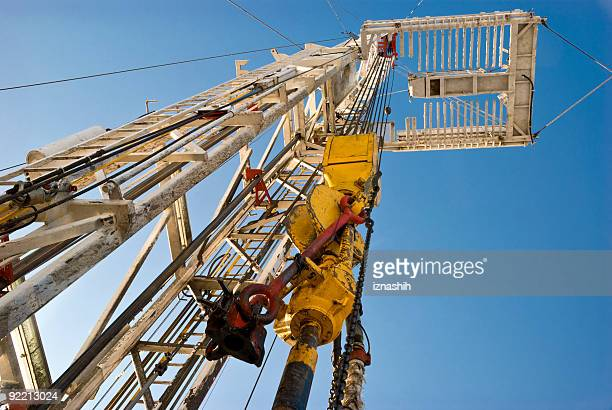 Drilling rig downside up