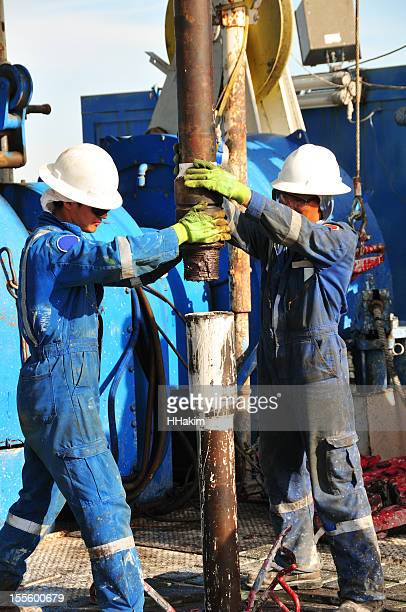 Drilling rig workers