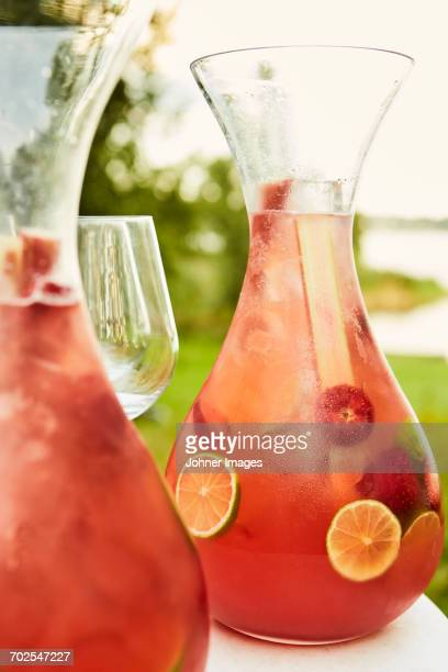 Drink and fruits in carafe
