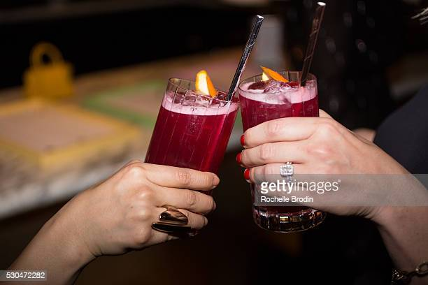Drink detail at the Who What Wear visionaries launch event at Ysabel on May 10 2016 in West Hollywood California