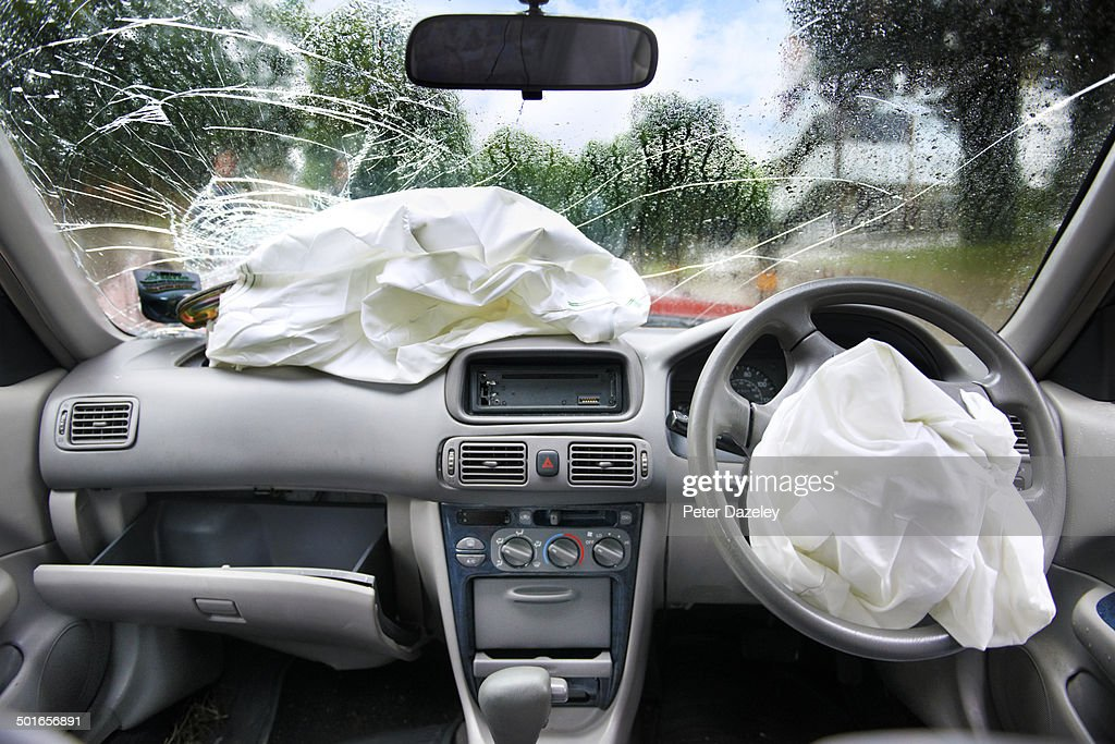 Drink driving accident airbags : Foto de stock