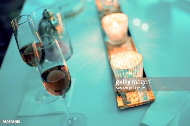 Drink Glasses On Table