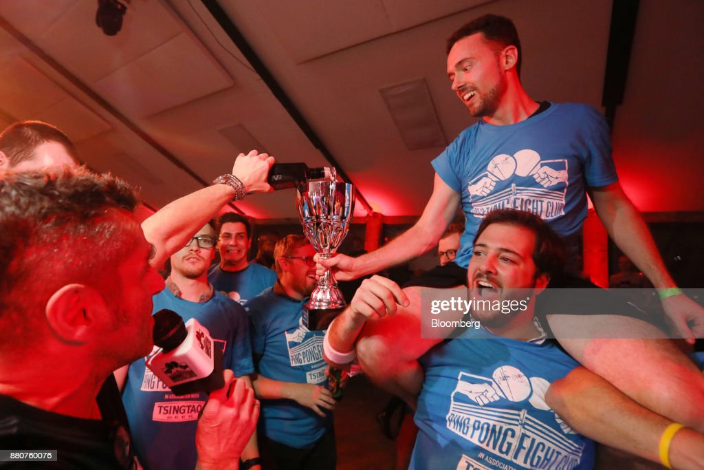 Revenge And Brexit Worries Served Up At London Ping Pong Contest : News Photo