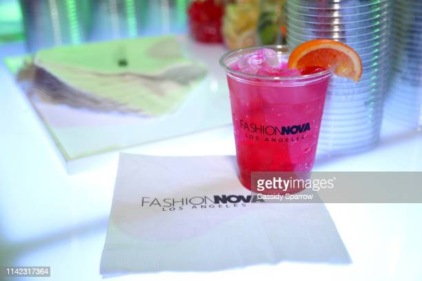 A drink is seen as Fashion Nova Presents Party With Cardi at Hollywood Palladium on May 8 2019 in Los Angeles California
