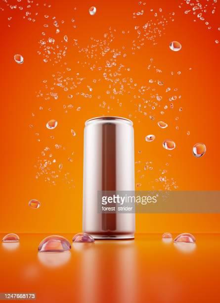 drink metallic blik - koffie drank stockfoto's en -beelden