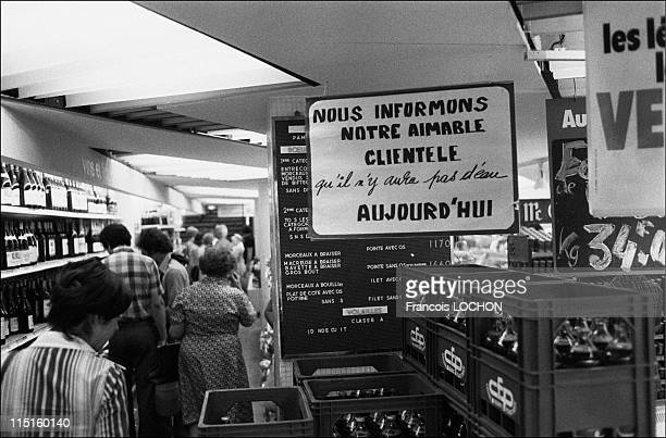 Drink shortage during the heat wave of 1976 in Paris France on July 06 1976