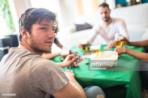 drinking and playing poker - texas hold 'em stock pictures, royalty-free photos & images
