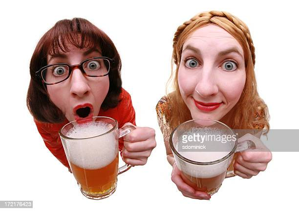 drinking buddies - very ugly women stock photos and pictures