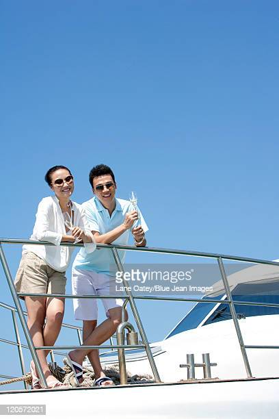 Drinking Champagne on a Yacht