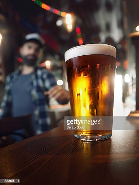 drinking craft beer. - ale stock pictures, royalty-free photos & images