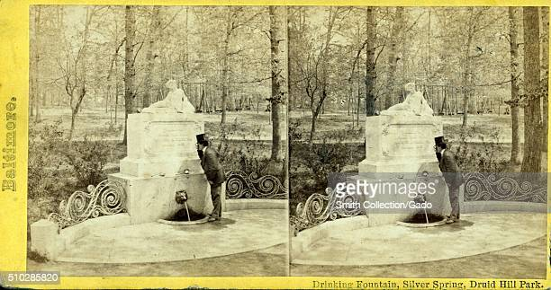Drinking Fountain Silver Spring Druid Hill Park Baltimore Maryland 1900 From the New York Public Library