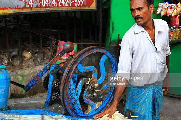 Drinking fresh sugarcane juice is very common in India and this machine makes it easy to derive the juice.