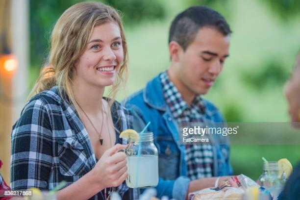 Drinking Lemonade