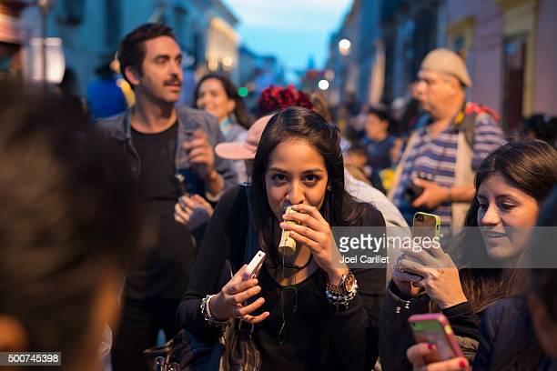 Drinking mezcal in Oaxaca, Mexico