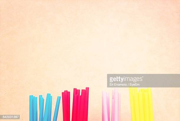 Drinking Straws Against Wall