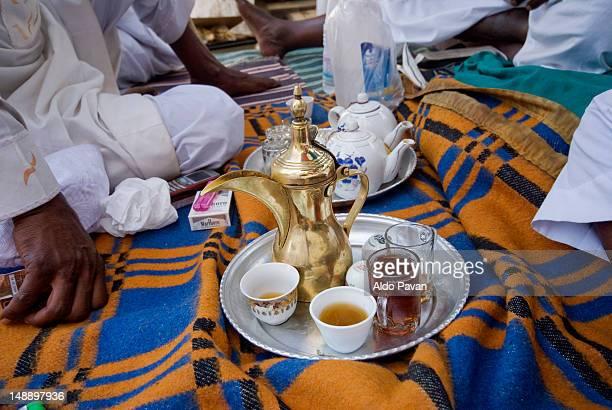 Drinking tea in market (souq).