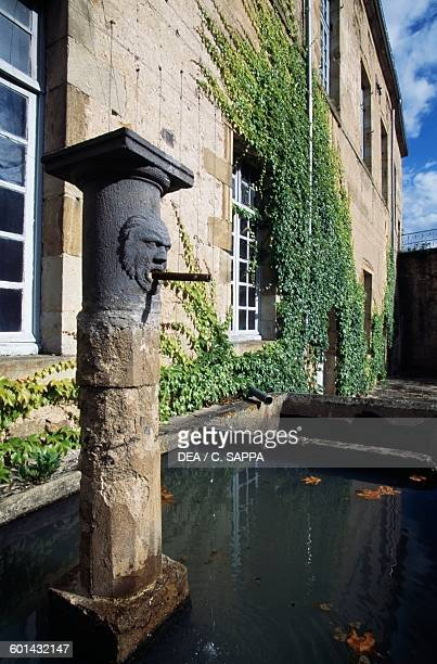 Drinking trough of the Chateau de Ravel Auvergne France 12th18th century
