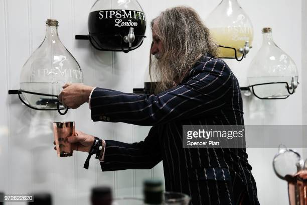 Drinks are prepared at Bar Convent Brooklyn an international bar beverage trade show at the Brooklyn Expo Center on June 12 2018 in the Brooklyn...