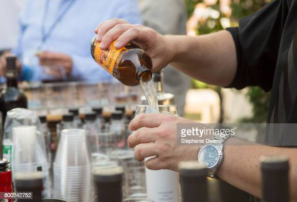 Drinks are served at the Fast Track Happy Hour during the 2017 Los Angeles Film Festival on June 21 2017 in Culver City California