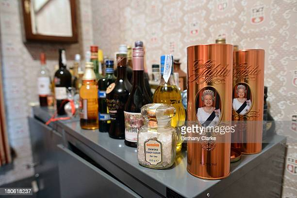 A drinks cabinet in the scullery of Pineheath house on September 4 2013 in Harrogate England The untouched 40bedroom house belonged to wealthy...