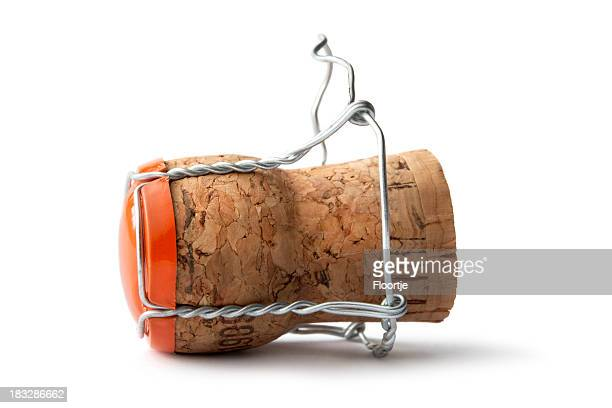drinks: champagne cork - champagne cork stock photos and pictures