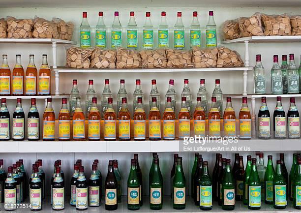 Drinks in a village shop hamhung North Korea on September 12 2012 in Hamhung North Korea