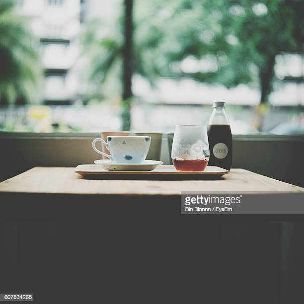 Drinks Served On Table In Cafe