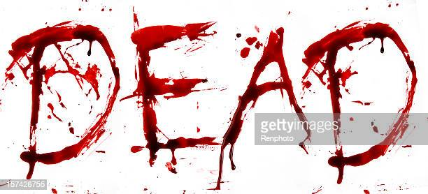 dripping blood letters: dead - bloody death stock pictures, royalty-free photos & images