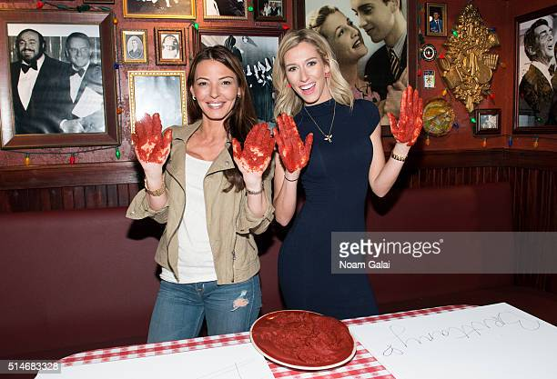 Drita D'Avanzo and Brittany Fogarty visit Buca di Beppo on March 10 2016 in New York City