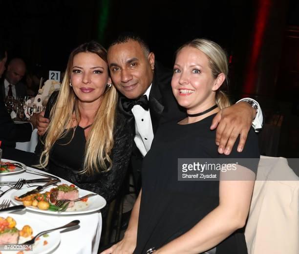 Drita D'Avanzo and John Gungie Rivera attend 9th Annual Cristian Rivera Foundation Celebrity Gala at Capitale on November 15 2017 in New York City