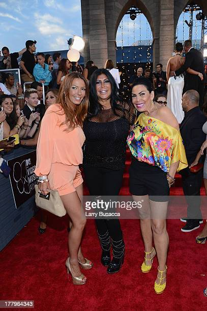 Drita Davanzo Angela 'Big Ang' Raiola and Renee Graziano attends the 2013 MTV Video Music Awards at the Barclays Center on August 25 2013 in the...