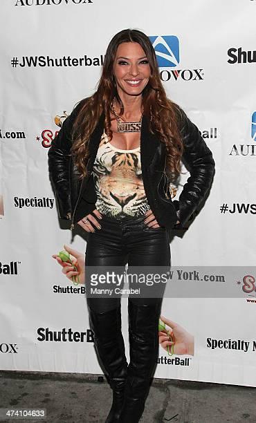 Drita D'Avanzo attends Jenni JWOWW Farley's Birthday Celebration at Drunken Monkey on February 21 2014 in the Staten Island borough of New York City