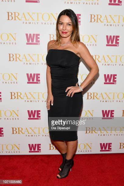 Drita D'Avanzo attends WE tv and Traci Braxton celebrate the new season of Braxton Family Values at The Skylark on August 21 2018 in New York City