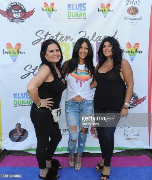 Drita D'Avanzo attends Z100's Elvis Duran Attends The 2019 Staten Island Pride Celebration on June 21 2019 in New York City
