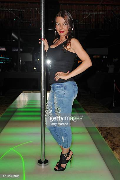 Drita D'Avanzo hosts at the Crazy Horse nightlub on April 25 2015 in Pompano Beach Florida