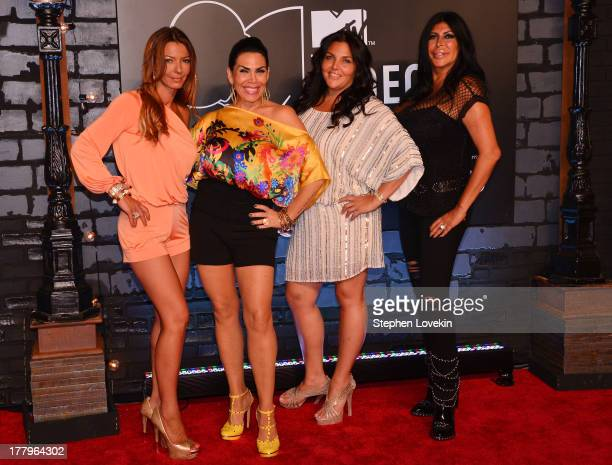 Drita Davanzo Renee Graziano and Angela Big Ang Raiola attends the 2013 MTV Video Music Awards at the Barclays Center on August 25 2013 in the...