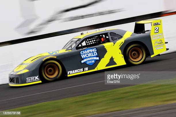 Drive Ernie Francis Jr. #2 drives during practice for the Inaugural Superstar Racing Experience Event at Stafford Motor Speedway on June 12, 2021 in...
