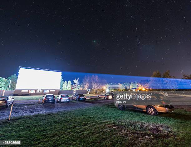 drive in movie theatre - drive in movie stock pictures, royalty-free photos & images