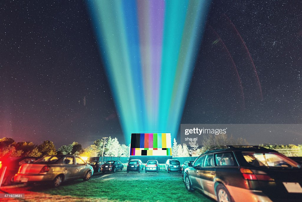 Drive In Test Pattern : Stock Photo